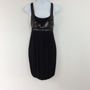 Dresses & Skirts - Sequin Tank Top Black Balloon Dress S